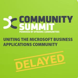 Community Summit Europe 2020 Postponed